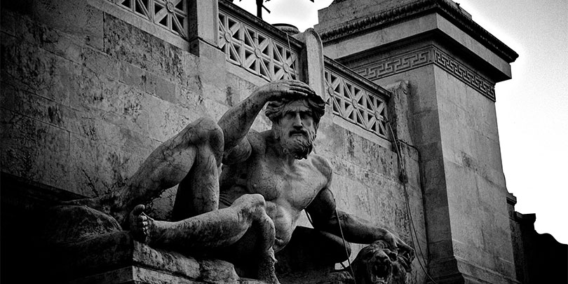 Picture of an Old Stone Statue
