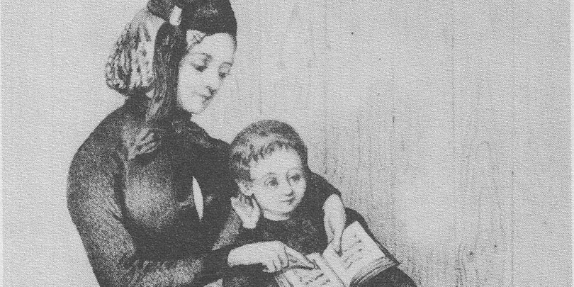 Picture of a Mother reading to her Child