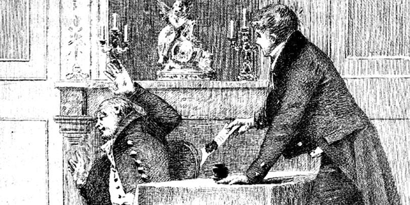 Illustration of Honoré de Balzac's The Marriage Contract