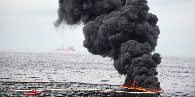 Picture of Deepwater Horizon, an offshore drilling unit