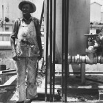 Picture of a Worker Installing Marine Steam Boilers