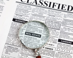 Real Estate Classified Ad