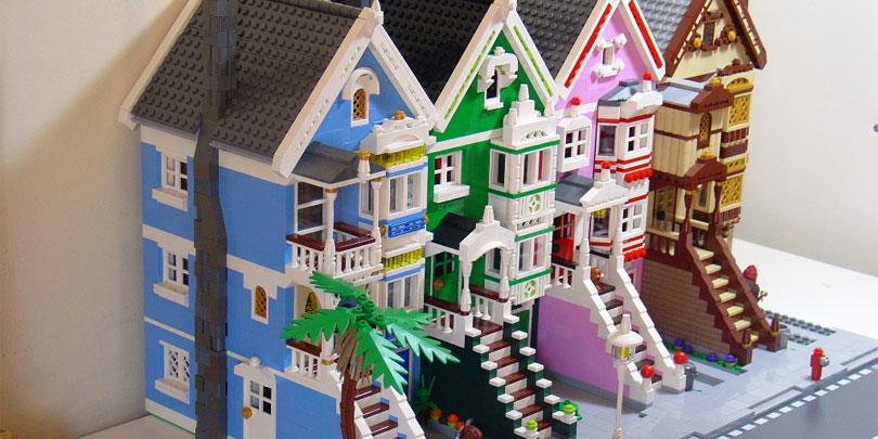 Row of Lego Houses