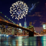 Fireworks over New York City