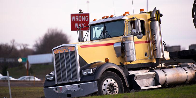 Truck Wrong Way