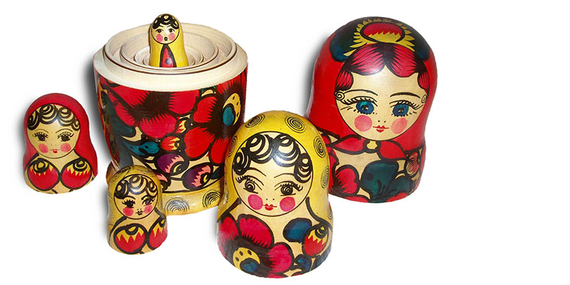 russian, stacking, dolls